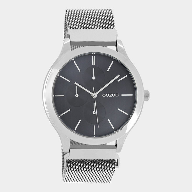 OOZOO Timepieces - unisex - metal mesh silver with silver