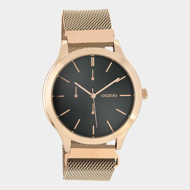 OOZOO Timepieces - unisex - metal mesh rose gold / rose gold