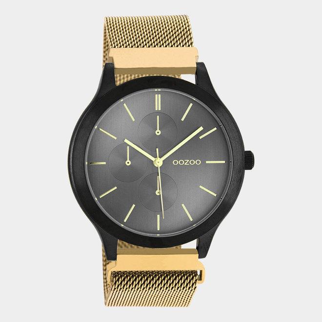 OOZOO Timepieces - unisex - metalen mesh goud