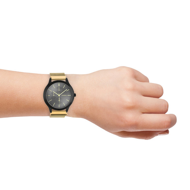 OOZOO Timepieces - unisex - metal mesh gold with black