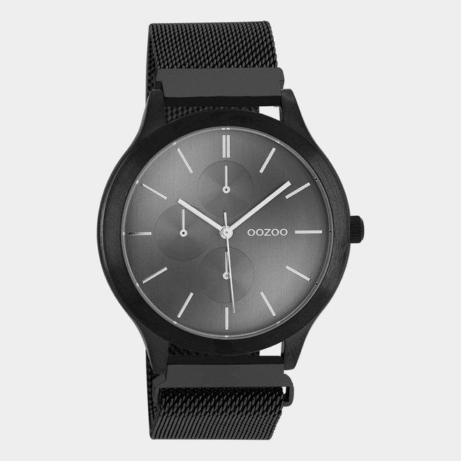 OOZOO Timepieces - unisex - metal mesh black / black