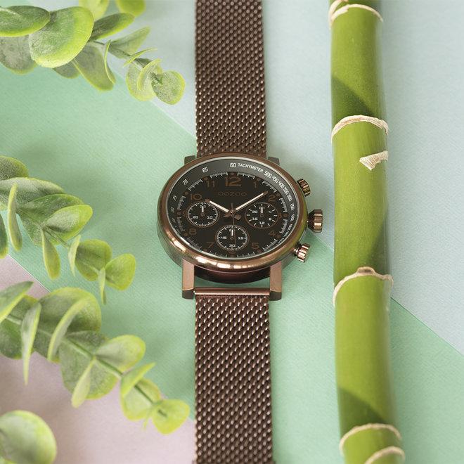 OOZOO Timepieces - unisex - mesh metal brown with brown