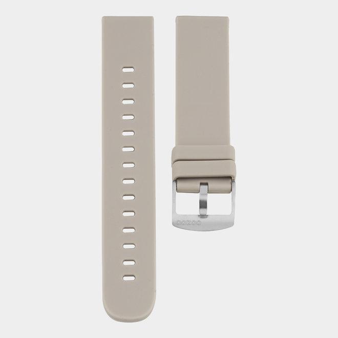 OOZOO Smartwatches - unisex - rubber horlogeband taupe