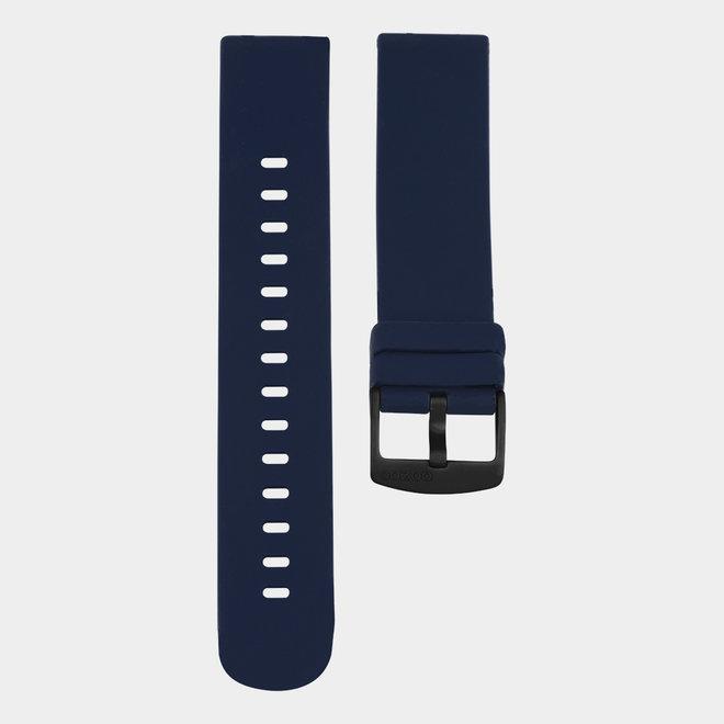 OOZOO Smartwatches - unisexe - bracelet en caoutchouc bleu foncé