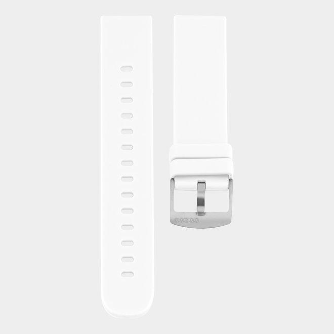 OOZOO Smartwatches - unisex - rubber horlogeband wit