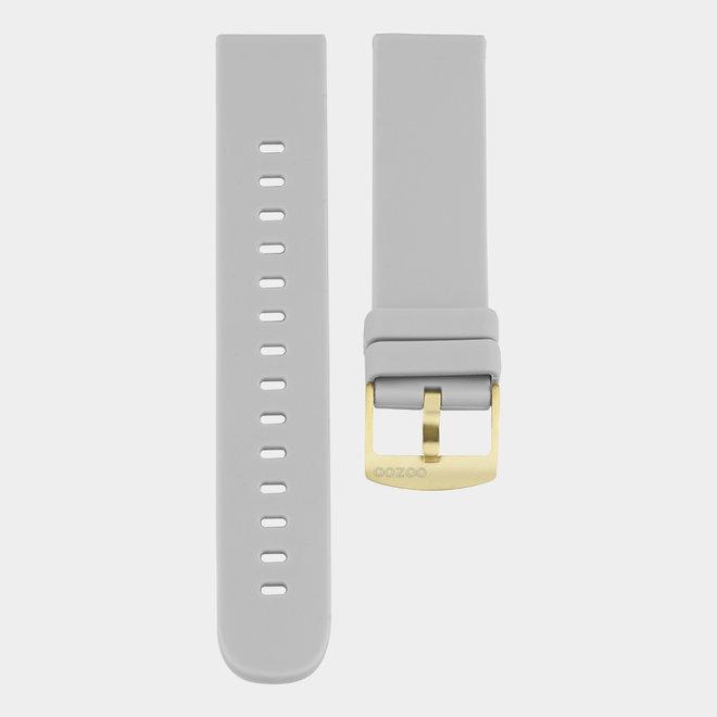 OOZOO Smartwatches - unisexe - bracelet en caoutchouc gris pierre