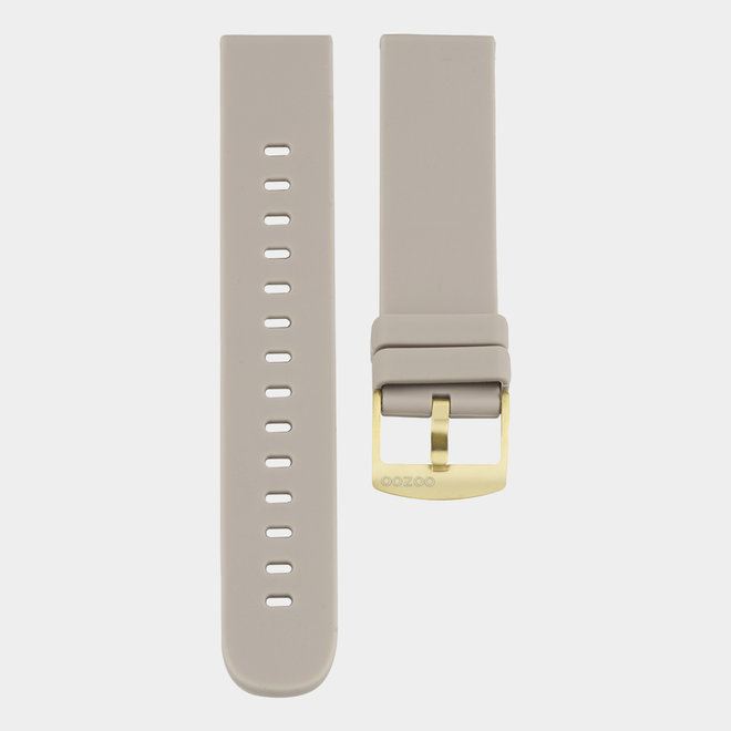 OOZOO Smartwatches - unisex - rubber bracelet taupe