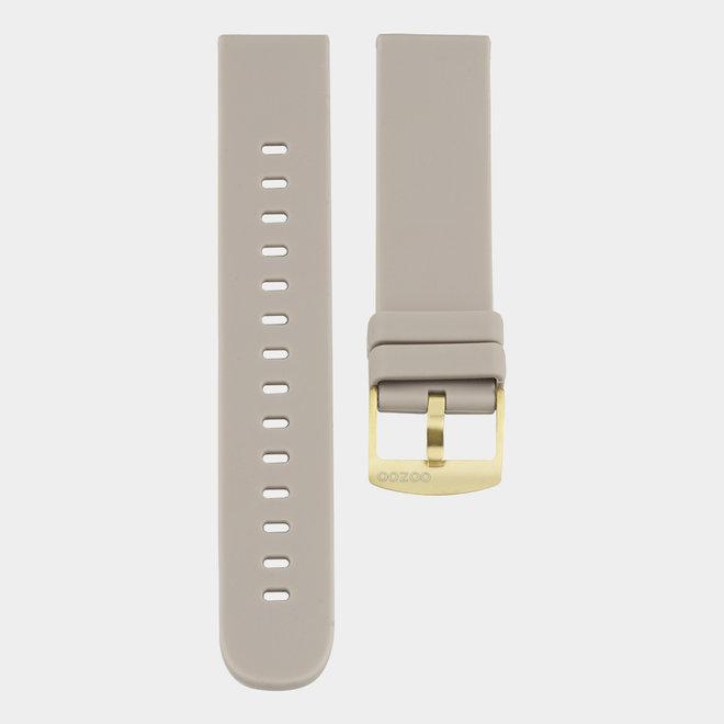 OOZOO Smartwatches - unisexe - bracelet en caoutchouc taupe