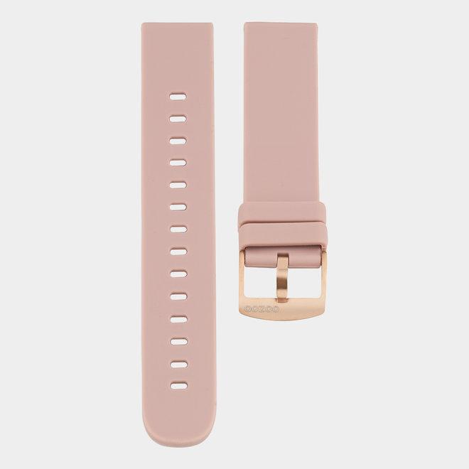 OOZOO Smartwatches - unisex - rubber horlogeband oud roze
