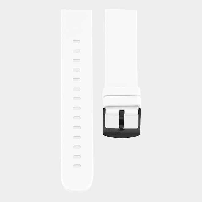 OOZOO Smartwatches - unisexe - bracelet en caoutchouc blanc