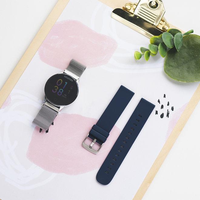 OOZOO Smartwatches - unisexe - bracelet en mesh argent avec argent