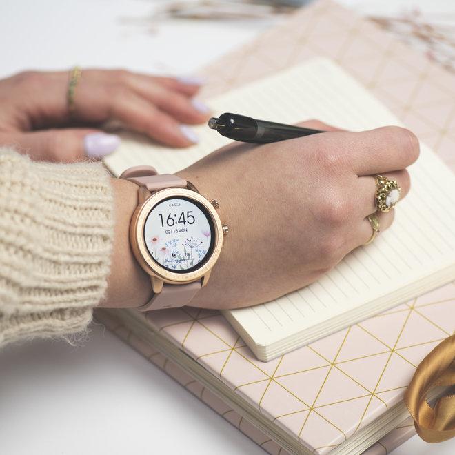 OOZOO Smartwatches - unisex - rubber bracelet pink grey