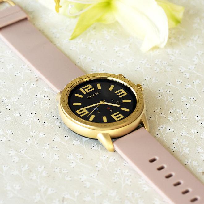 OOZOO Smartwatches - unisexe - bracelet en caoutchouc gris rose