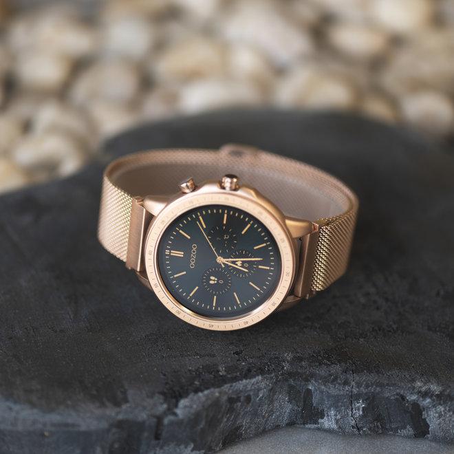OOZOO Smartwatches - unisexe - bracelet en mesh en or rose