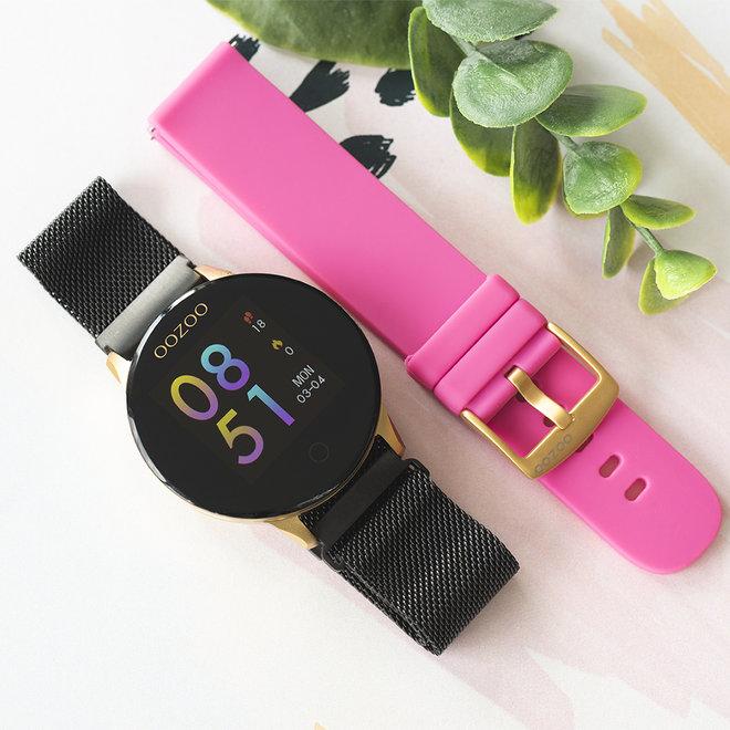 OOZOO Smartwatches - unisexe - bracelet en mesh en noir