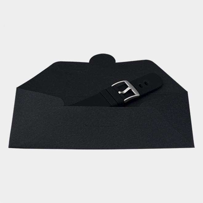 OOZOO Smartwatches - unisexe - bracelet en caoutchouc noir