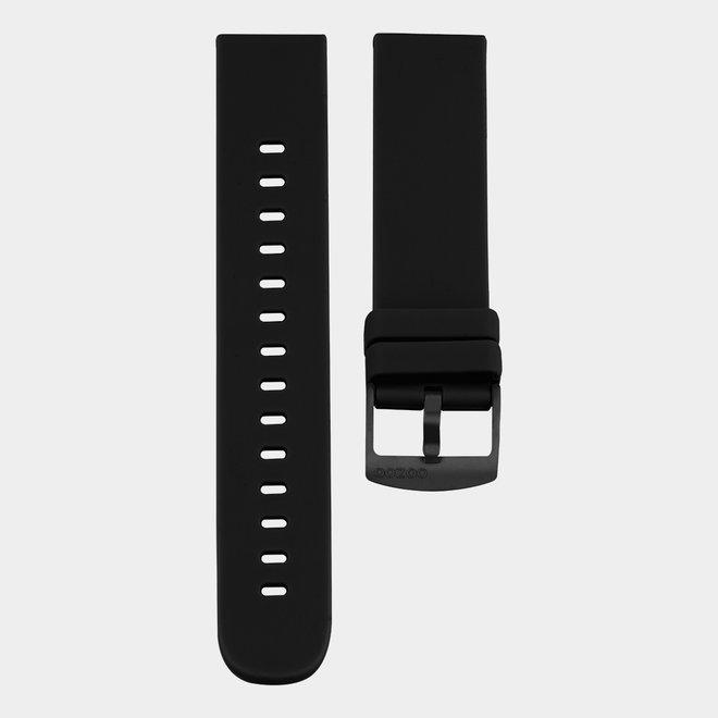 OOZOO Smartwatches - unisexe - bracelet en caoutchouc en noir