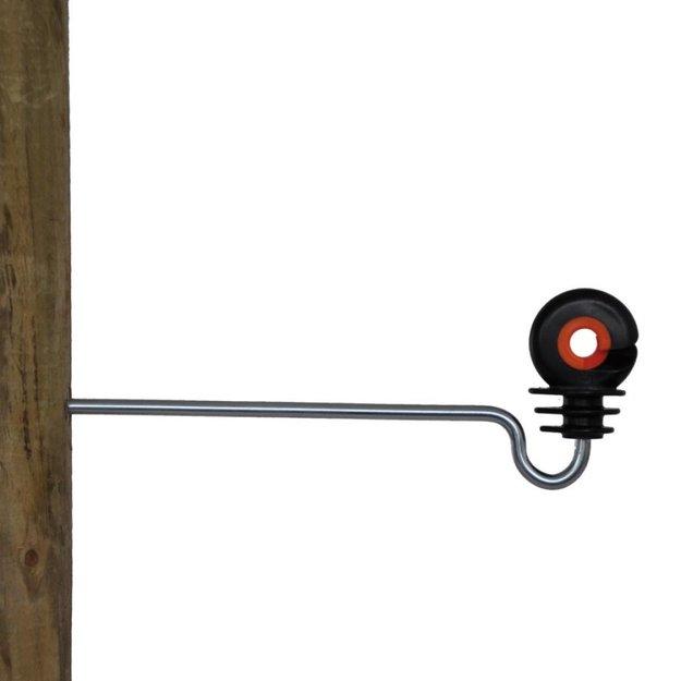 Gallagher  10x Gallagher Abstand-Ringisolator XDI gebogen - Holz 18 cm