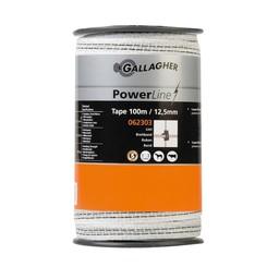 100 m/12,5 mm Gallagher Weidezaunband PowerLine (weiß)