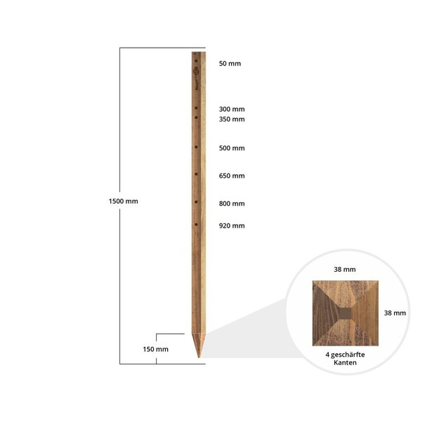 Gallagher  Gallagher Holzpfahl Insultimber - 1,50 m (1 Stck.)