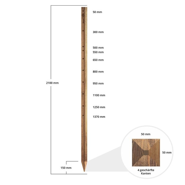 Gallagher  Gallagher Holzpfahl Insultimber - 2,10 m (1 Stck.)