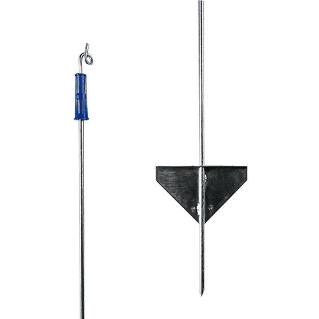 Gallagher  10x Gallagher Federstahlpfahl - 1,10 m weiß/blau