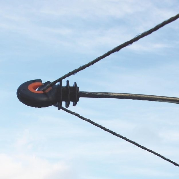Gallagher  100x Gallagher Abstand-Ringisolator XDI - Holz 18 cm
