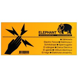 Elephant Warnschild (Elektrozaun)