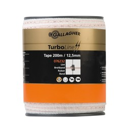 200 m/12,5 mm Gallagher Weidezaunband TurboLine (weiß)