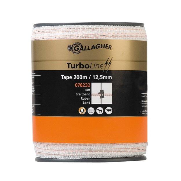 Gallagher  200 m/12,5 mm Gallagher Weidezaunband TurboLine (weiß)