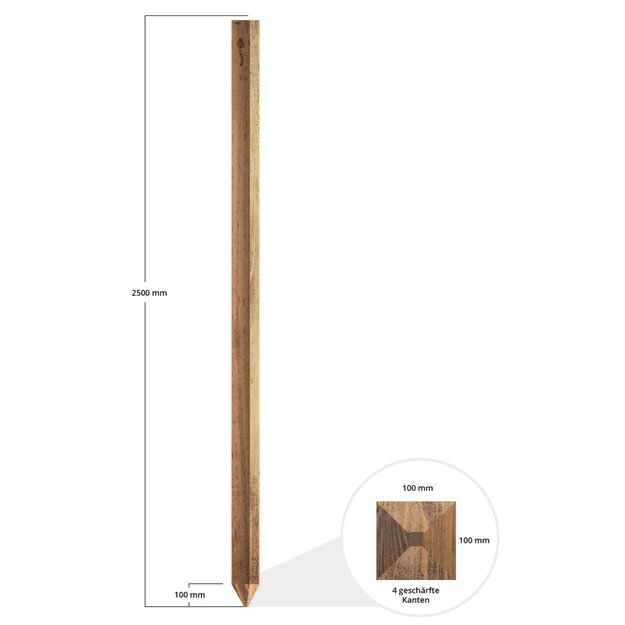 Gallagher  10x Gallagher Holz-Eckpfahl Insultimber - 2,50 m