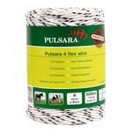 Pulsara 500 m/4 mm Pulsara Premium Weidezaunseil 4 Flex Cord (weiß)