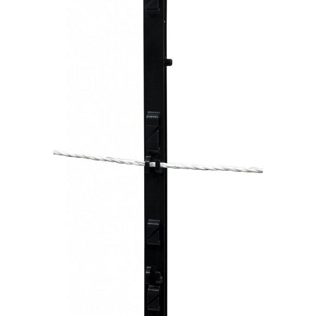 AgrarGIGANT - PRO 40x GIGANT Kunststoffpfahl - 155 cm, 14 Ösen (schwarz)