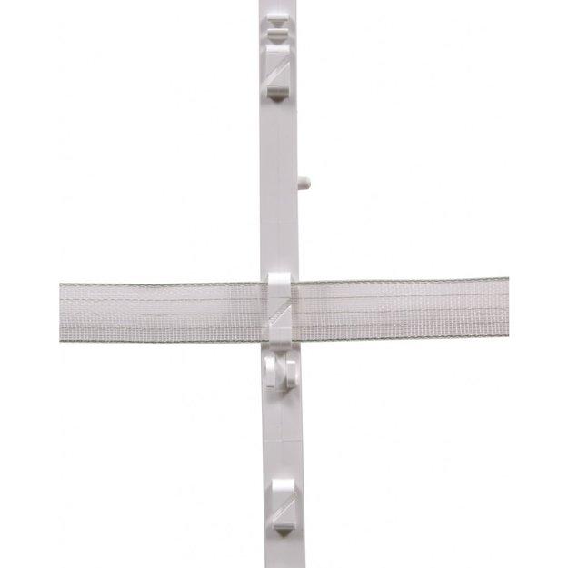 AgrarGIGANT - PRO 10x GIGANT Kunststoffpfahl - 105 cm, 10 Ösen (weiß)