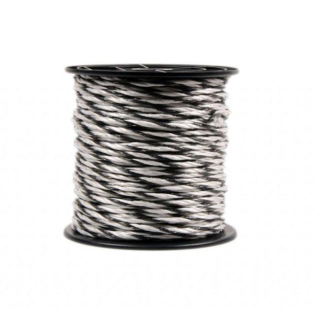 AgrarGIGANT - Basic 150 m/5 mm GIGANT Weidezaunseil Basic (weiß/schwarz)