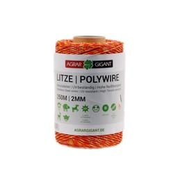 250 m/2 mm GIGANT Weidezaunlitze Basic (gelb/orange)