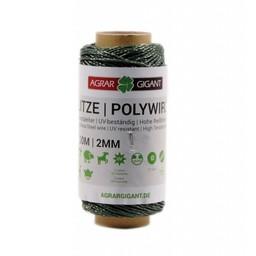 100 m/2 mm GIGANT Weidezaunlitze Basic (grün)