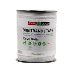 200 m/20 mm GIGANT Weidezaunband Basic (weiß)
