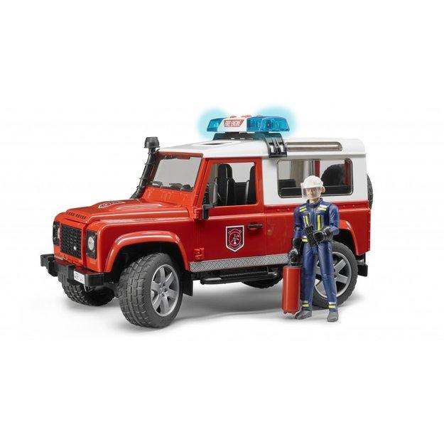 Bruder Bruder Land Rover Defender Feuerwehr mit Feuerwehrmann 1:16
