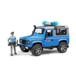 Bruder Land Rover Defender Polizeifahrzeug und Polizist 1:16