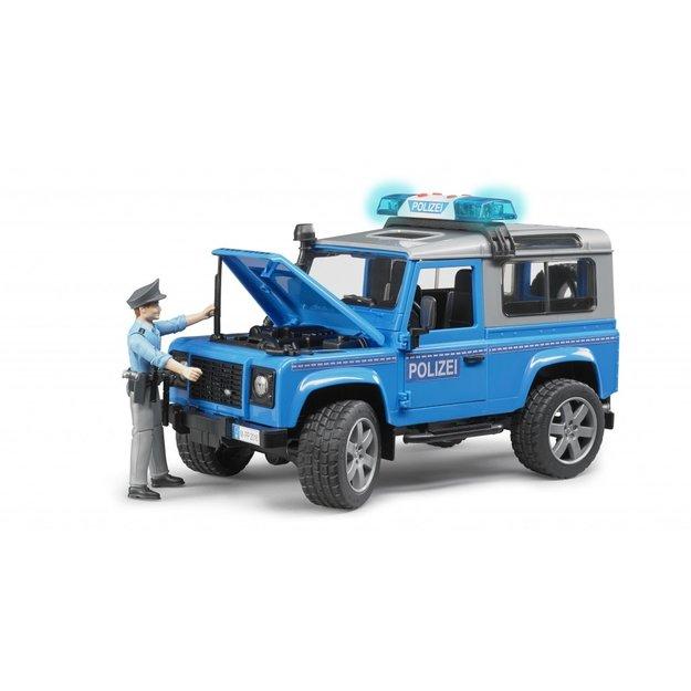 Bruder Bruder Land Rover Defender Polizeifahrzeug und Polizist 1:16