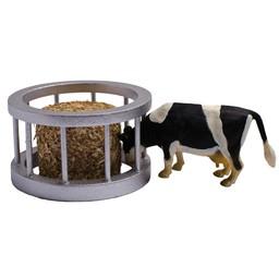 Kids Globe Futterstation mit Rundball und Kuh 1:32