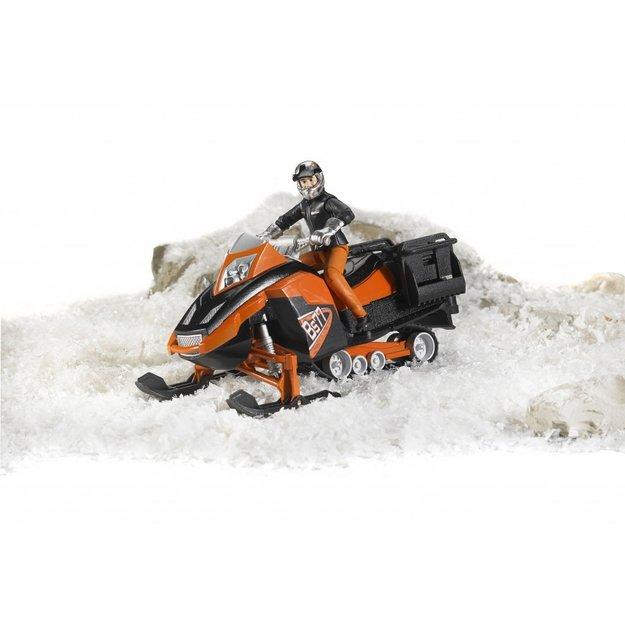 Bruder Bruder Snowmobil mit Fahrer und Ausstattung 1:16