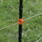 Gallagher  20x Gallagher Draht-Clip für isolierten Line Post - 8 mm