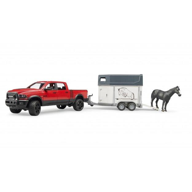 Bruder Bruder RAM 2500 Power Wagon mit Pferdeanhänger + Pferd 1:16