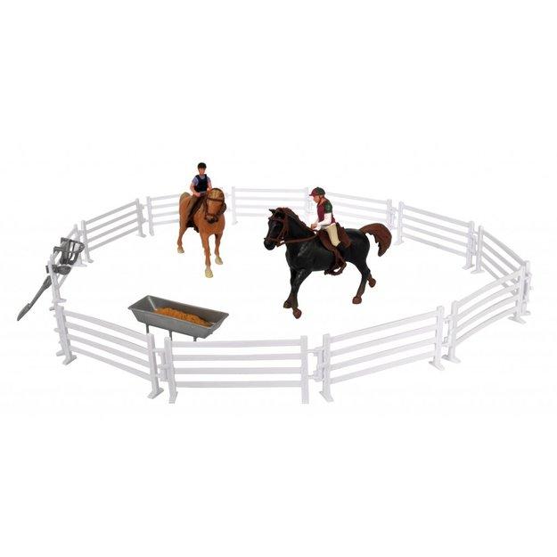 Kidsglobe Kids Globe Pferdekoppel mit Reitern und Pferden 1:24
