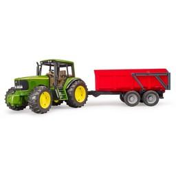 Bruder Traktor John Deere 6920 + Wannenkippanhänger 1:16