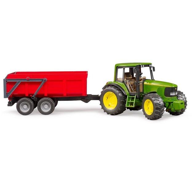 Bruder Bruder Traktor John Deere 6920 + Wannenkippanhänger 1:16