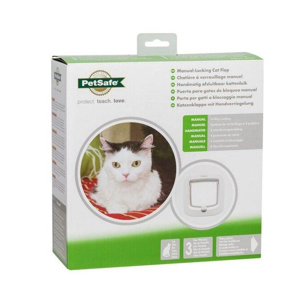 PetSafe® PetSafe® Katzenklappe mit manueller Verriegelung (weiß)