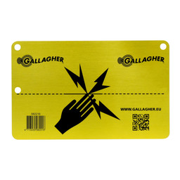 Gallagher Aluminium EU-Warnschild
